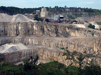 Dene Quarry, a scene of great endeavour and dust